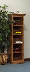 Amish Highland Executive Open Shelf Bookcase