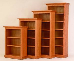 "Amish 36"" Wide Executive Bookcase"
