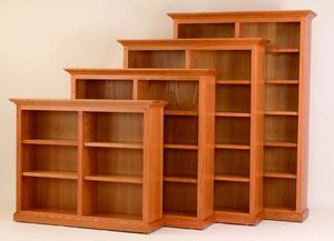 "Amish 60"" Wide Custom Executive Bookcase"