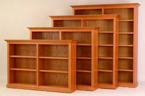 "Amish 72"" Wide Executive Bookcase"