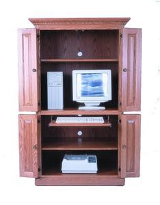 "Amish 40"" Computer Cabinet Desk"