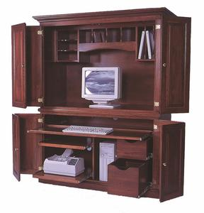 Amish Deluxe Computer Desk Armoire