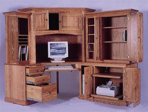 Amish 6 Piece Royal Computer Corner Desk