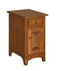 Amish Shaker Chairside End Table with Door