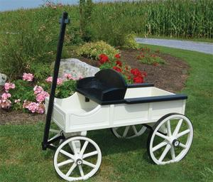 Amish Two-Tone Buckboard Wagon - Medium Premiun
