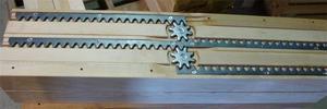 Double Equalizer Pedestal Table Slide Unfinished Five Rail