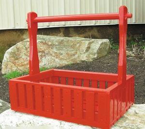 Amish Handcrafted Garden Basket Planters