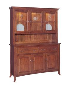 Manchester Three-Door Buffet with Hutch by Keystone Collection