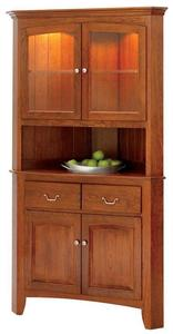 """Manchester 33"""" Corner Buffet with Hutch by Keystone Collection"""