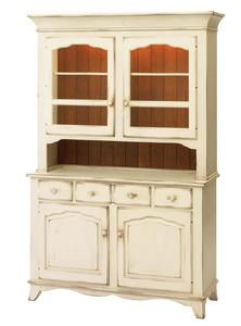 Provence Two-Door Buffet with Hutch by Keystone Collection