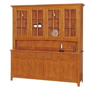 Shaker Four-Door Buffet & Hutch by Keystone Collection