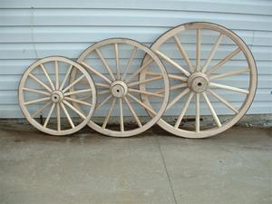 Amish Wooden Hub Buggy Wheel - Small