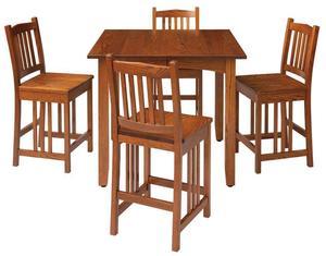 Mission Self-Storing Leaf Pub Table by Keystone