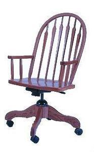 Amish Arrow Back Office Desk Chair