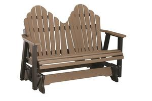 Berlin Gardens Cozi-Back Double Outdoor Poly Glider Bench