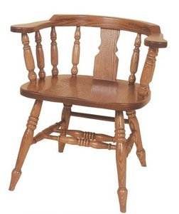 Amish Windsor Slot Low Captains Chair