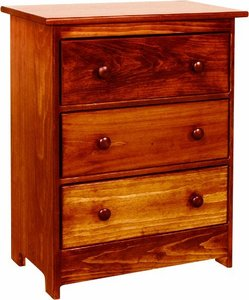 Amish Pine 3 Drawer Chest Night Stand