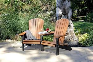 Amish Leisure Lawns Poly Lumber Fan Back Settee