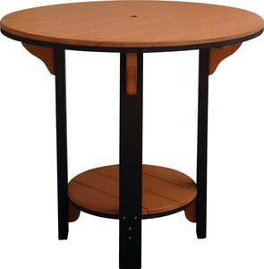 Amish Leisure Lawns Patio Recycled Poly Outdoor Pub Table