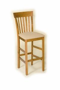 Transitional Slat Back Trenton Bar Stool
