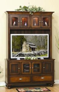 Amish Cable Mill Flat Screen Entertainment Center with Drawers