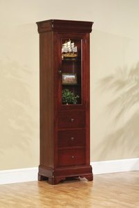 "Amish Louis Philippe 23"" Side Bookcase with Drawers"