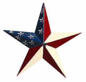 "Amish 40"" Patriotic Painted Barn Star"