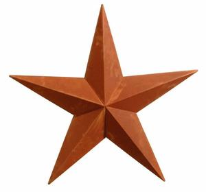 16'' Rusty Amish Barn Star