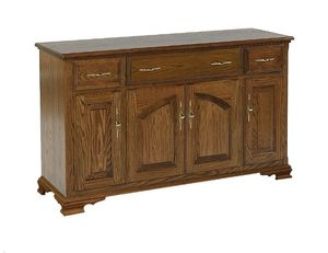 Amish Queen Anne Solid Wood Buffet - Lifetime Warranty