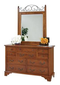 Amish Early American Double Dresser