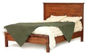 Amish Modern Shaker Panel Bed