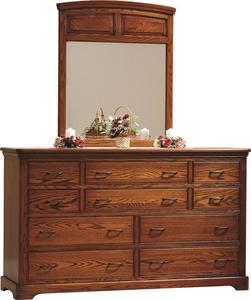 Amish Johnson Ten Drawer Dresser