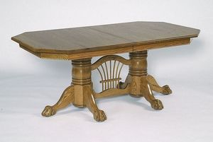 """Amish 72"""" Double Pedestal Dining Table with Clipped Corner Top"""