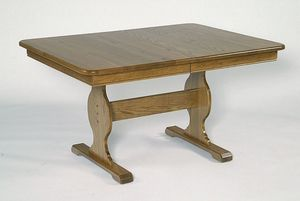 Amish Solid Wood Trestle Dining Table