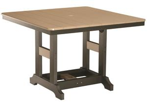 "Berlin Gardens 44"" Square Poly Patio Dining Table"