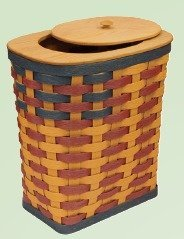 Amish Environmentally Friendly Rectangle Laundry Hamper with Lid