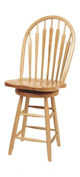 Amish Arrow Plain Leg Low Windsor Barstool