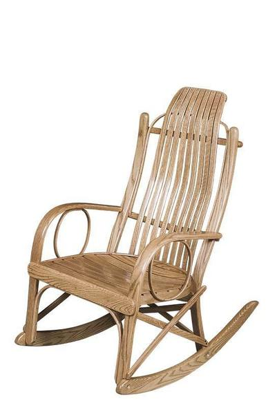 Amish Beaver Valley Round Arm Rocker