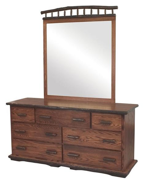 Amish Rustic Wood Dresser with Optional Mirror