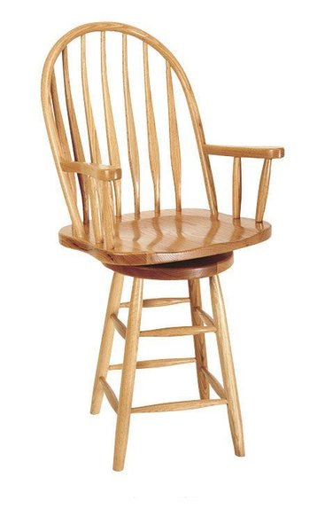 Amish Bent Plain Leg Low Barstool