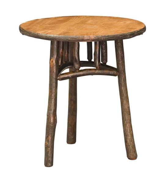 rustic round end table. Rustic Round End Table D