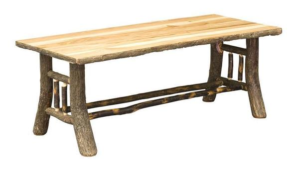 Amish Noble Rustic Hickory Coffee Table