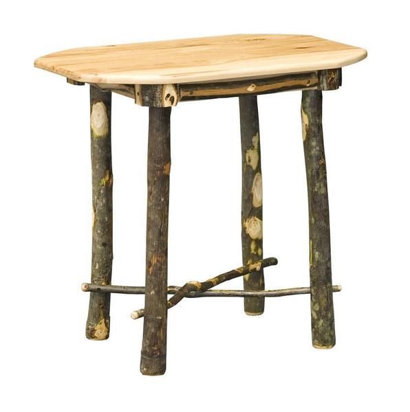 Amish Oval Rustic Hickory End Table