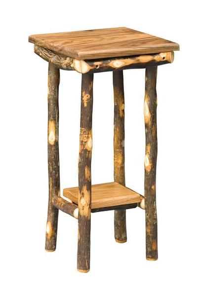 Amish Rustic End Table with Shelf