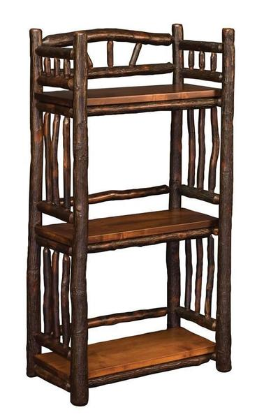 Amish Rustic Spindle Open Bookcase