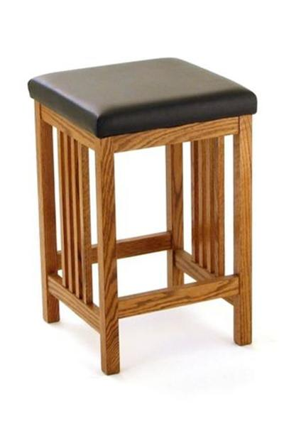 Amish California Mission Backless Barstool