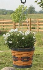 Amish Eco Friendly Hanging Planter Basket