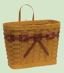 Amish Eco Friendly Large Mail Basket with Bow