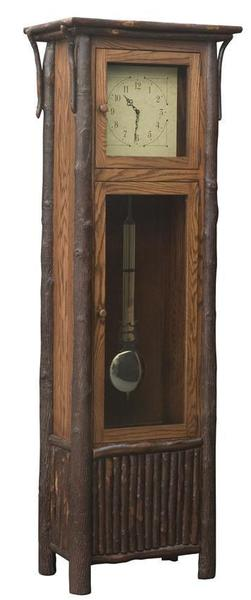 Amish Rustic Old Country Grandfather Clock With Pendulum