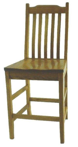 Solid Wood Mission Barstool From Dutchcrafters Amish Furniture